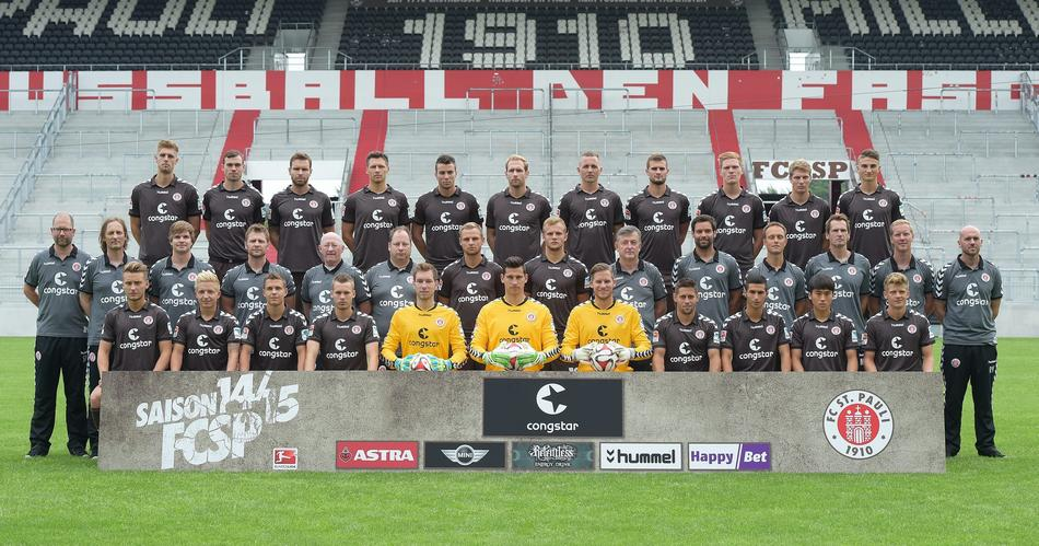 La rosa del St.Pauli per la stagione 2014/15